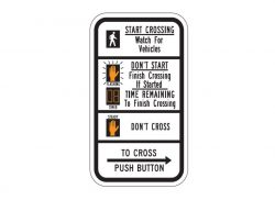 R10-3eR Crossing Sign Right