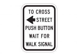 R10-4aL To Cross Street Push Button
