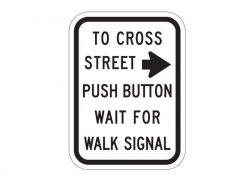 R10-4aR Push Button to Cross Street
