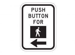 R10-4bL Push Button Pedestrian Traffic Signal