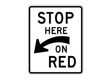 R10-6aL Stop Here on Red (Left)