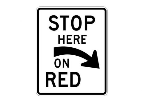 R10-6aR Stop Here on Red (Right)