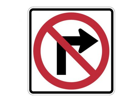R3-1 No Right Turn Signs