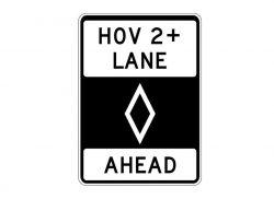 R3-12 HOV Lane Ahead
