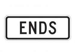 R3-17b Bike Lane Ends Plaque