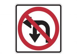 R3-18 Combination U-Turn & Left Turn Prohibition