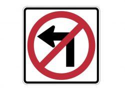 R3-2 No Left Turn Symbol