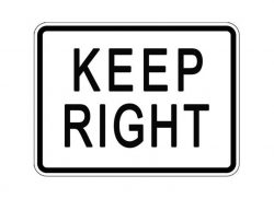 R4-7P Keep Right Plaque