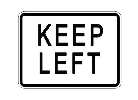 R4-8P Keep Left Plaque