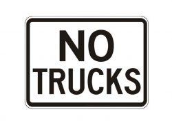 R5-2P-No Trucks Plaque
