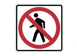 R5-3 No Pedestrian Crossing