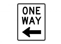 R6-2L One Way Sign Left