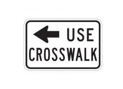 R9-3bL Use Crosswalk
