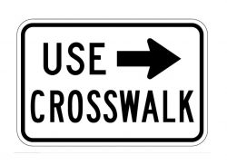 R9-3bR Use Crosswalk (Right)