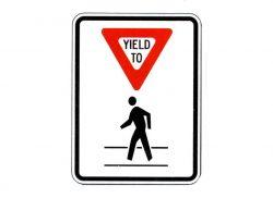 R9-9A Yield to Pedestrians