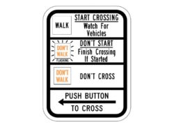 R10-3cL Push Button To Cross