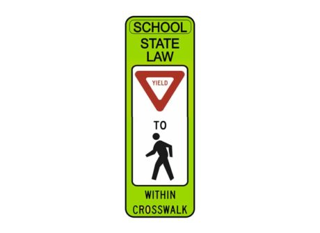 R1-6 State Law Yield to Pedestrian Within Crosswalk (SCH)