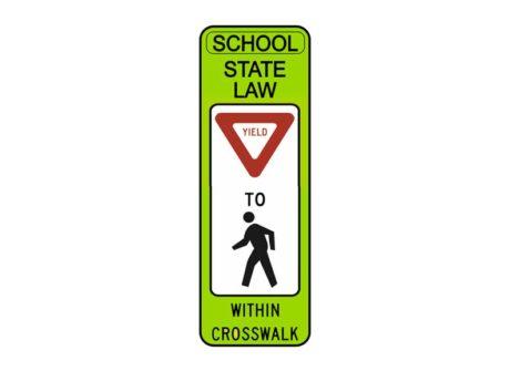 R1-6 State Law Yield to Pedestrian Within Crosswalk (SCH)