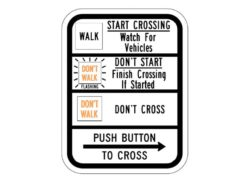 R10-3cR Push Button To Cross