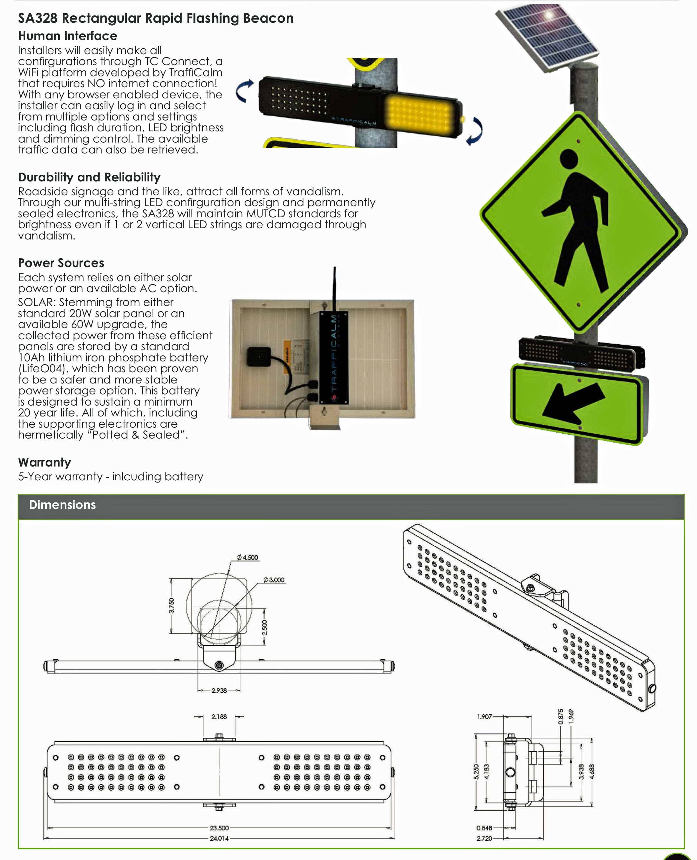 SA328 Rectangular Rapid Flashing Beacon