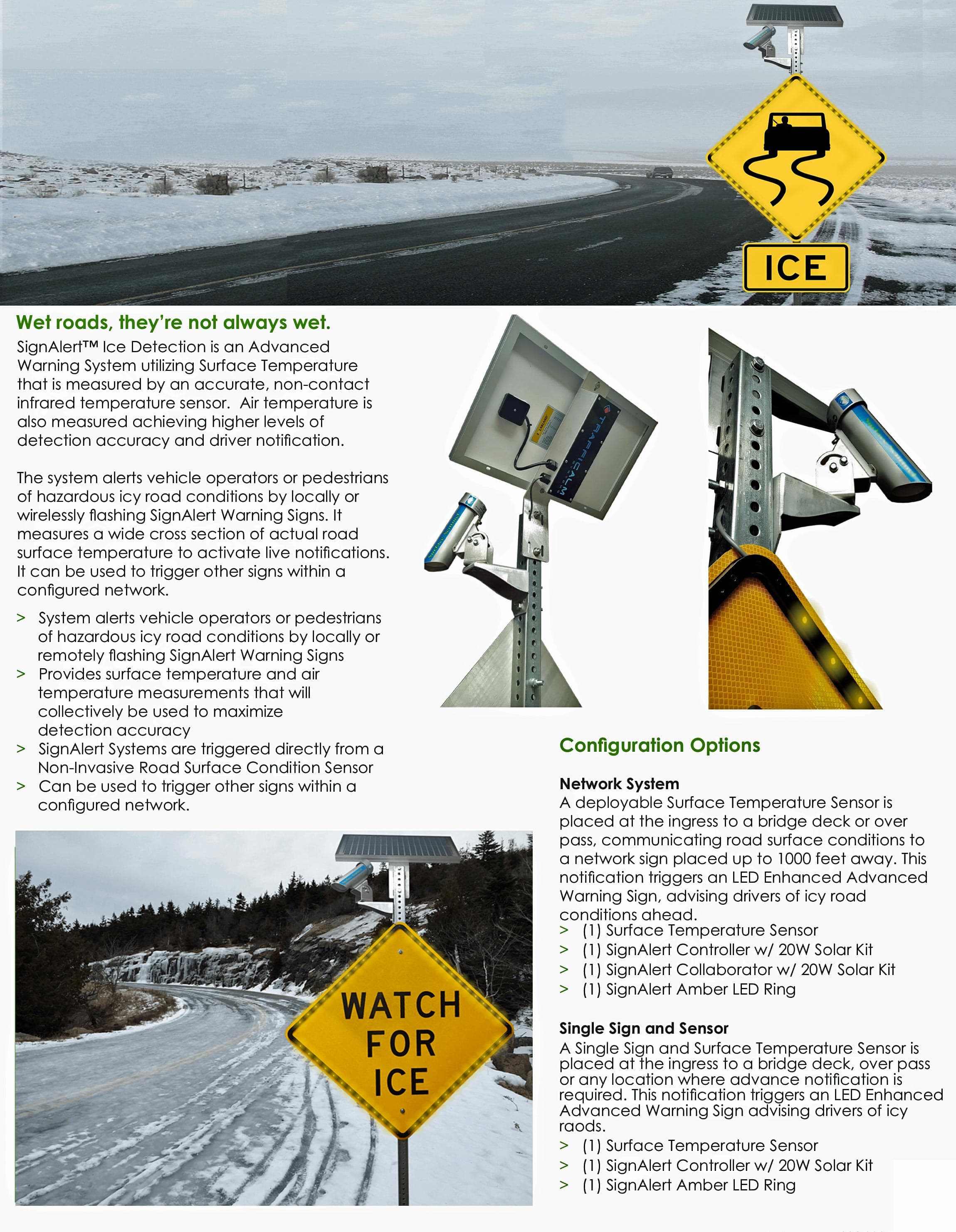 Sign Alert Ice Detection