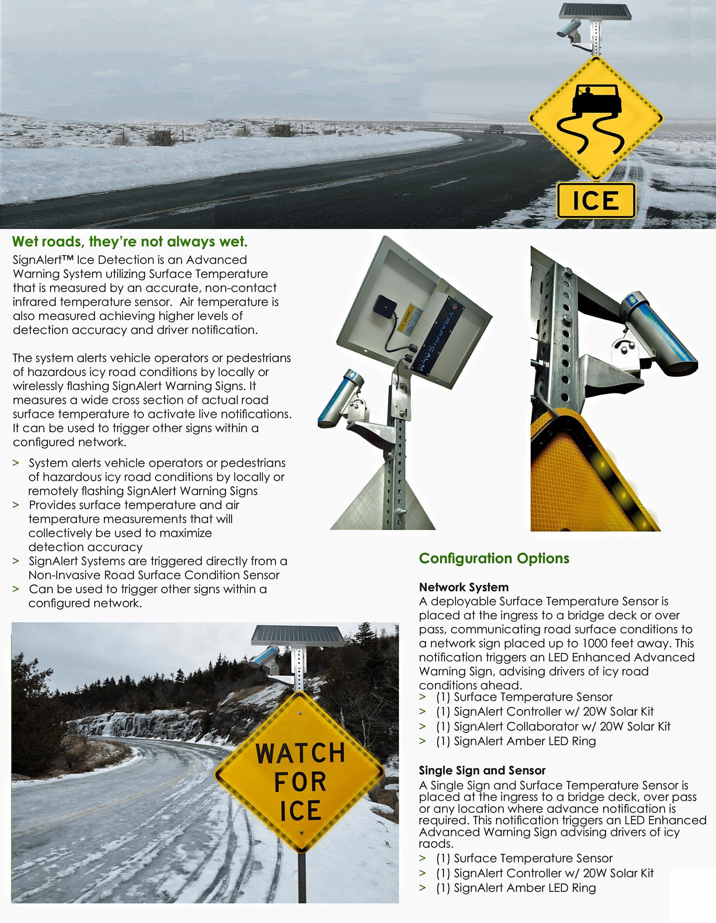 Sign Alert Ice Detection
